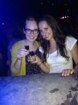 My roommate Veronika and I at a Bar