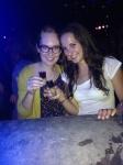 My roommate Veronika and I at a Bar