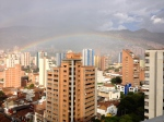 View of a Rainbow off of my Balcony in Medelin, Colombia