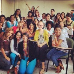 My Students and Roshni (my roommate) and I at CENSA, Medellin