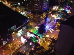 View of a Christmas Parade from my Apartment in Medellin, Colombia