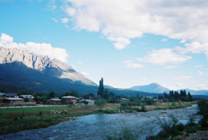 The view from the front of La Casita in El Bolson, Argentina