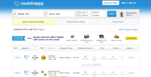 Routehappy Fare-finder